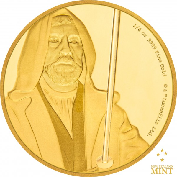 25 $ 1/4 Oz Gold Proof Star Wars Classic: Obi-Wan Kenobi™ Niue 2017