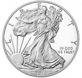1 $ Dollar Silber Proof 1 Unze American Eagle USA 2016 - 30th Anniversary