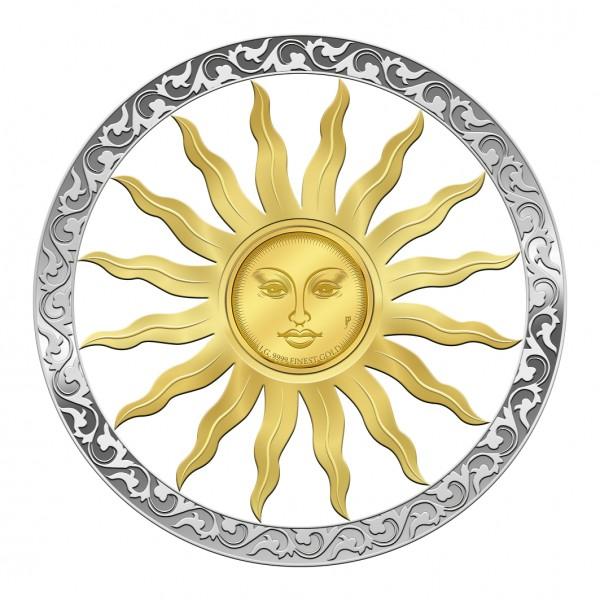 10 Dollar Silber Proof Symbols of Life - Sonne Barbados 2019