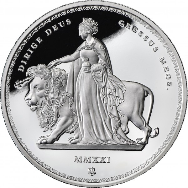 Una & the Lion Masterpiece 1 Ounce Silver Proof - 1 £ St. Helena 2021