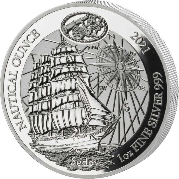 Nautical Ounce Sedov 1 Ounce Silver Proof Rwanda 2021 Rwandan