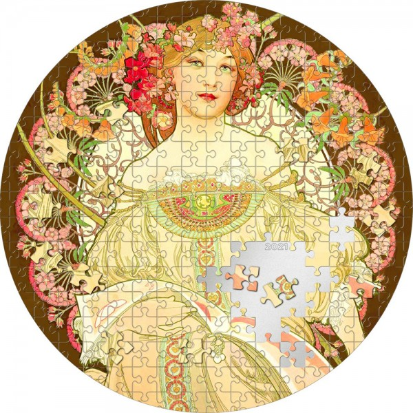 3 Ounce Silver Proof Reverie by Mucha Micropuzzle Treasures Passion 20$ Palau 2021