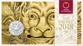 5 Euro Silber HgH Neujahrsmünze Löwenkraft Österreich 2018