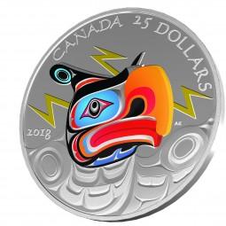 25 CAD Silber Proof Thunderbird Kanada 2018 Canada