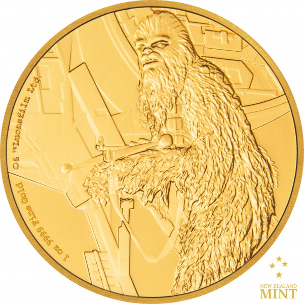 250 $ 1 Oz Gold Proof Star Wars Classic: Chewbacca™ Niue 2017