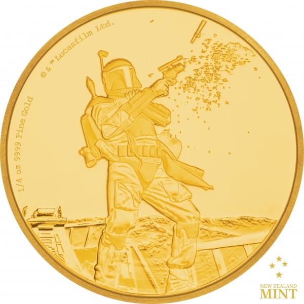 25 $ 1/4 Oz Gold Proof Star Wars Classic: Boba Fett™ Niue 2017