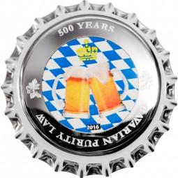 500 Jahre Bayerisches Reinheitsgebot - Bavarian Purity Law 1$ Dollar Silber Palau 2016