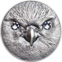 1 Unze Silber Antique Finish Saker Falcon Wildlife Protection Mongolei 2016