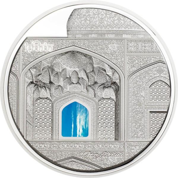 3 Ounces Silver Proof Tiffany Art Isfahan 20$ Dollar Palau 2020