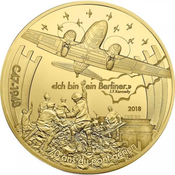 200 Euro 1 Unze Gold Proof Berliner Luftbrücke Dakota C47 Frankreich 2018 Luftfahrt & Geschichte