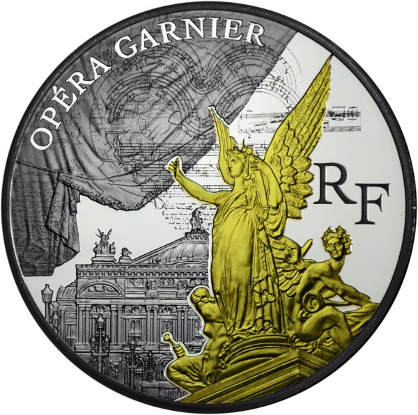 10 Euro Silber Proof Paris' Treasures Opera Garnier Frankreich 2016 France
