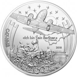 10 Euro Silber Proof Berliner Luftbrücke Dakota C47 Frankreich 2018 Luftfahrt & Geschichte