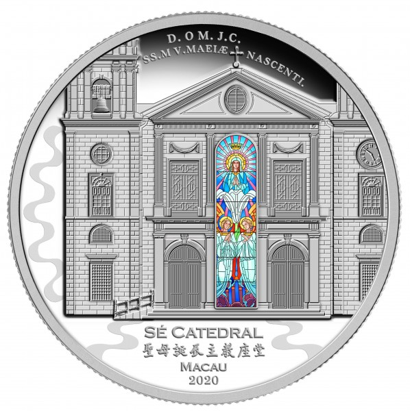 3 Ounces Silver Proof Cathedral of Macau 8 $ Solomon Islands 2020
