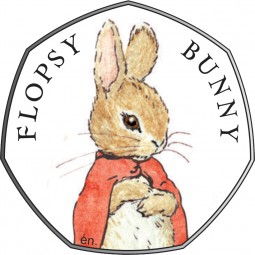 50 Pence Silber Proof Beatrix Potter - Flopsy Bunny™ United Kingdom 2018 Royal Mint