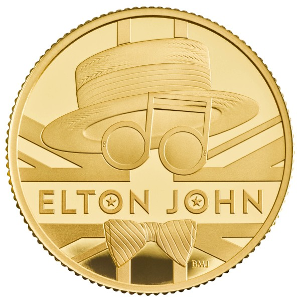 1/4 Oz Gold Proof Music Legends - Elton John - 25 £ Pfund United Kingdom 2020