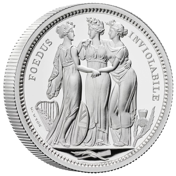 2 Ounce Silver Proof The Three Graces - The Great Engravers 5 £ United Kingdom 2020