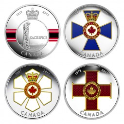 4 x 1 Oz Silber Proof Canadian Honours Kanada 2017