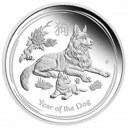 1 Unze Silber PP Proof Lunar II Hund Dog Australien 2018 - 1$ AUD