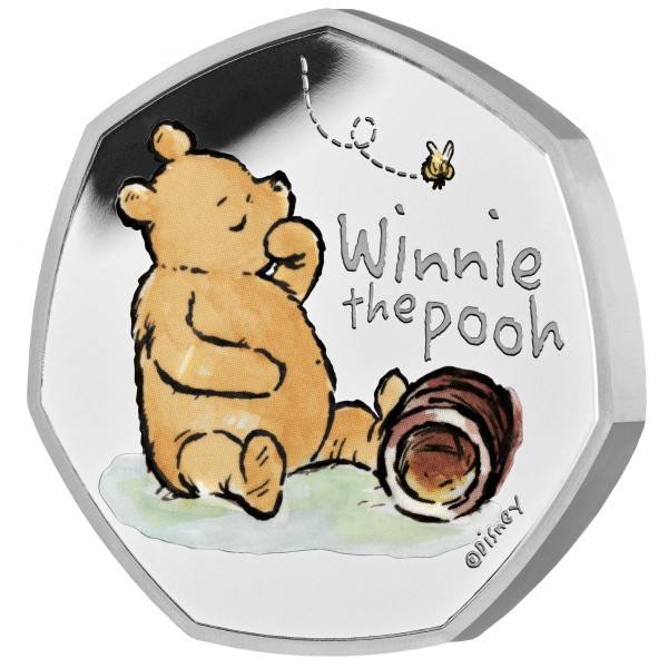 50 Pence Silver Proof Winnie the Pooh United Kingdom 2020 Royal Mint
