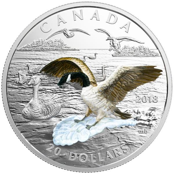 1 Oz Silber Proof 3D Canada Goose - Kanadagans 20 CAD Kanada 2018 Canada
