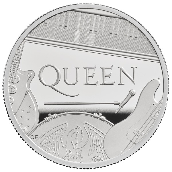 2 Ounce Silver Proof Music Legends - Queen - 5 £ United Kingdom 2020