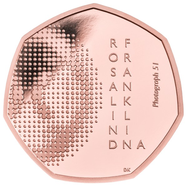 50 Pence Gold Proof Rosalind Franklin United Kingdom 2020 Royal Mint