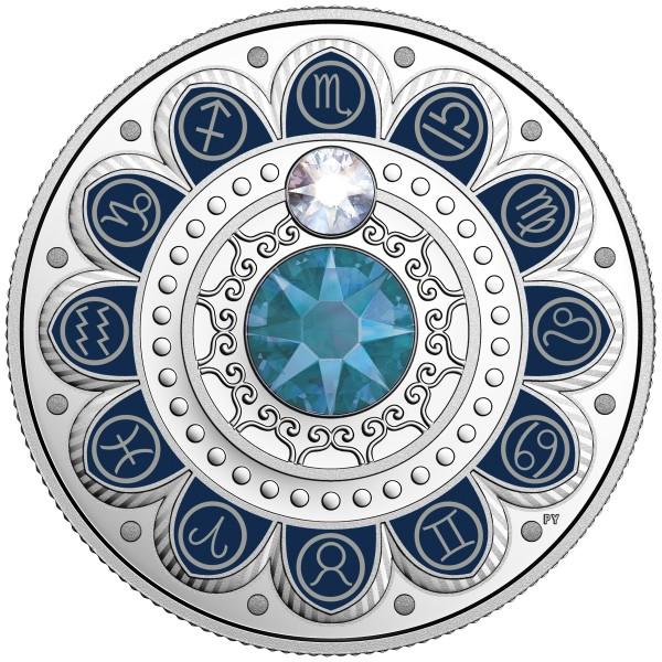 3 CAD Silber Proof Zodiac / Sternzeichen: Scorpio / Skorpion Kanada 2017 Canada