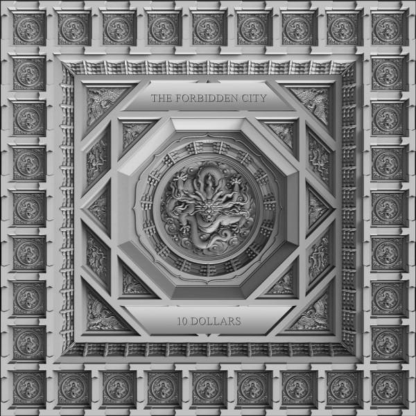 100 gr Silver Antique The Forbidden City 10 $ Samoa 2020