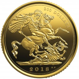 200 Dollar Gold Proof The 1908 Sovereign - 110th Anniversary of the Royal Canadian Mint Kanada 2018