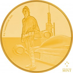 25 $ 1/4 Oz Gold Proof Star Wars Classic: Luke Skywalker™ Niue 2017