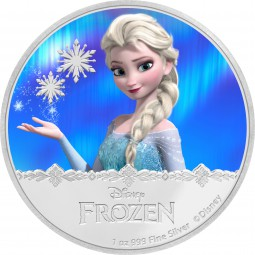 1 Unze Silber Proof Disney Frozen Elsa 2 $ Niue Islands 2016