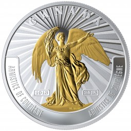 20 Dollar 1 Oz Silber Proof First World War - Armistice of Compiegne Kanada 2018 Canada