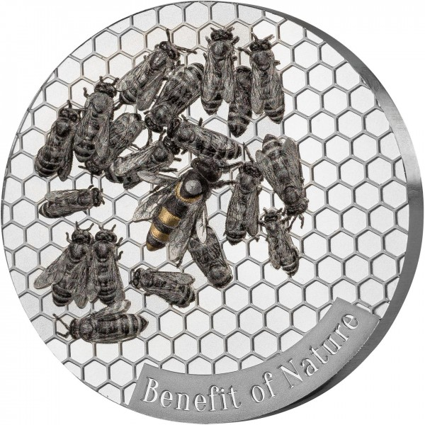 1 Ounce Silver Prooflike Benefit of Nature - Honey Bee Cameroon 2019