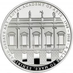 5 £ Pfund Silber Proof 250th Anniversary of Royal Academy United Kingdom 2018 Royal Mint