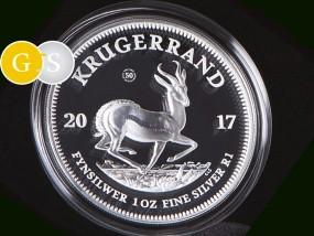 1 Unze Silber Proof PP Krügerrand 50 Jahre Südafrika 2017 South Africa Silver