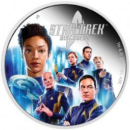2 Unzem Silber Proof Star Trek: Discovery Crew Tuvalu 2019