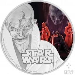 1 Oz Silber Proof Star Wars - The Last Jedi - Supreme Leader Snoke 2017 Niue Silver