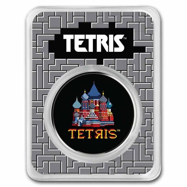 Tetris ™ St. Basil's Cathedral in TEP 1 Unze Silber BU Farbe 2$ Niue 2021
