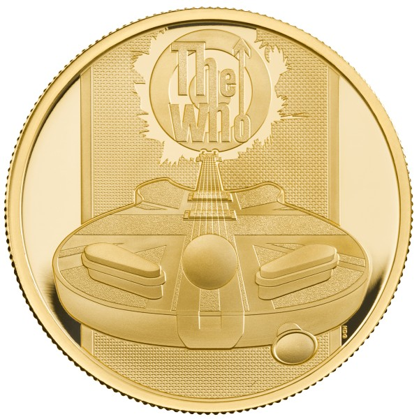 The Who - Music Legends - 1 Ounce Gold Proof 100 £ Pounds United Kingdom 2021