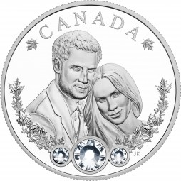 20 Dollar Silber Proof The Royal Wedding of HRH Prince Harry and MS. Meghan Markle Kanada 2018