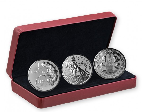 Silber Reverse Proof 3 Coin Set - The forgotten 1927 Designs - Kanada 2017 Canada