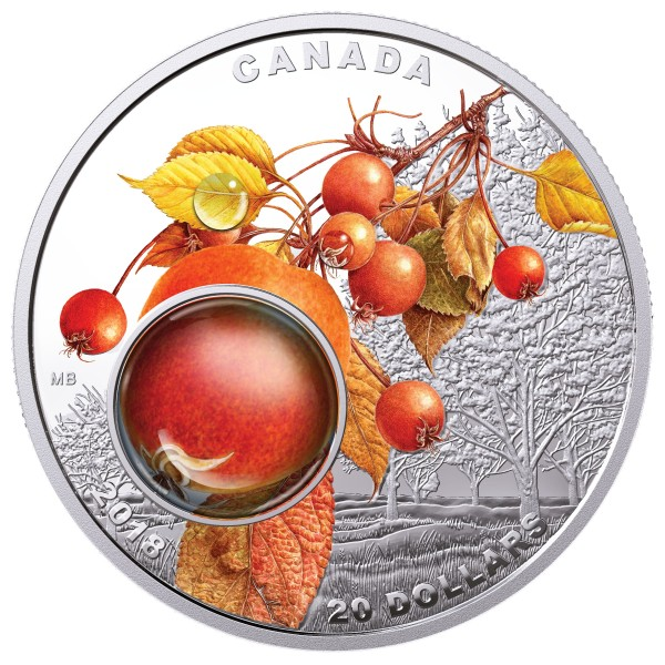 1 Ounce Silver Proof Morning Dew 20 CAD Canada 2018