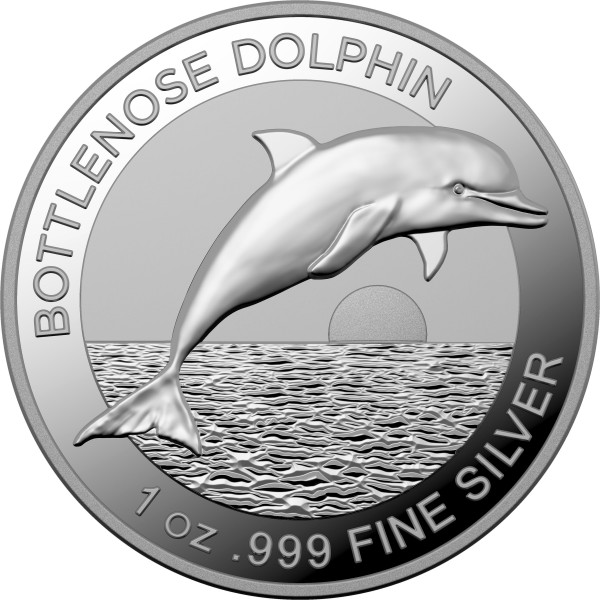 1 Unze Silber Proof Bottlenose Dolphin 5 $ Australien 2019