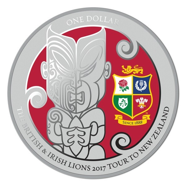 1 Unze Silber Proof British & Irish Lions New Zealand Neuseeland 2017