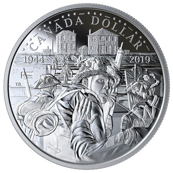 1 Dollar Silber Proof 75th Anniversary of D-Day Kanada 2019