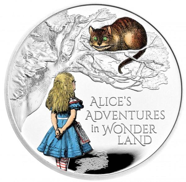 Alice´s Adventures in Wonderland - Treasury of Tales - 1 Ounce Silver Proof 2 £ United Kingdom 2021