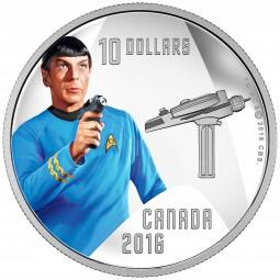 1/2 Oz Silber Proof Star Trek™ - Spock 10 Dollar Kanada 2016 Canada 50th anniversary of Star Trek™