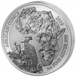 1 Unze Silber Proof Schuhschnabel Ruanda 2019 Silver Rwanda African Ounce