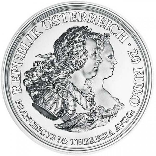 20 Euro Silber Proof Maria Theresia Gerechtigkeit Und Härte