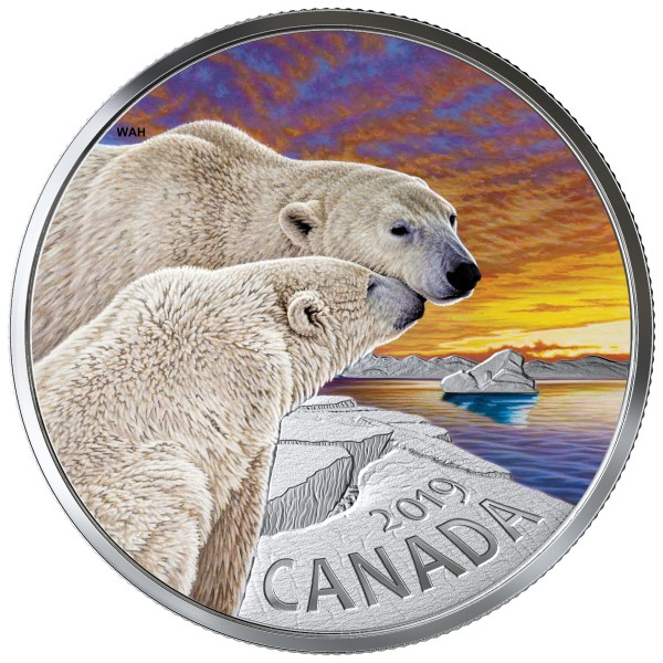 20 Dollar 1 Oz Silber Proof Canadian Fauna: The Polar Bear Kanada 2019